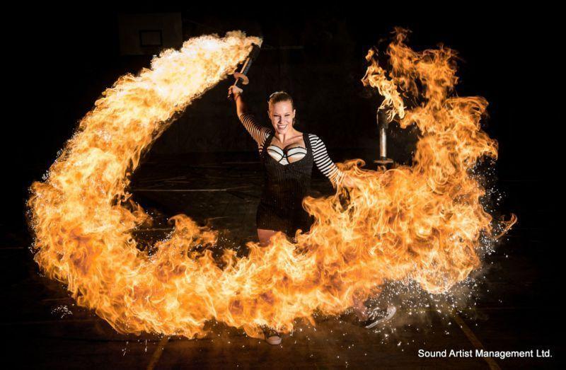 Spark Fire Dance - Female Dragon club performer