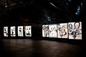 Quentin Jones with Robert Storey, The Fractured and the Feline, installation view at The Vinyl Factory Space credit Marco Walker _5